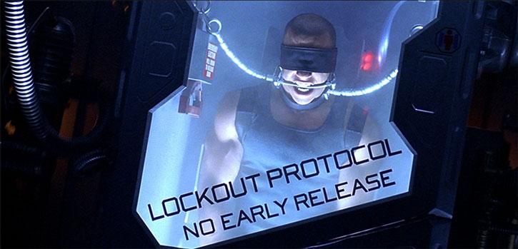 Riddick in maximum security transportation