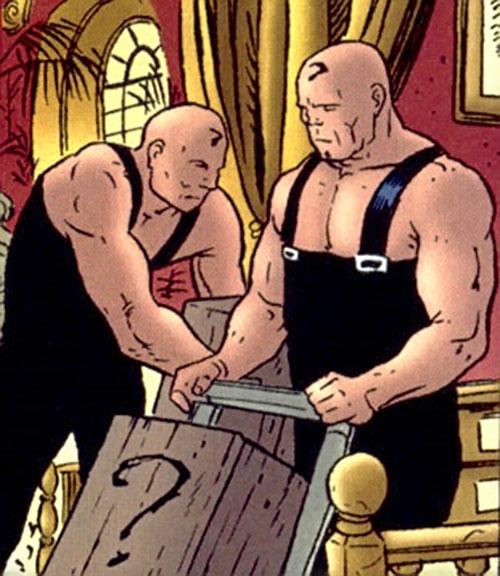 Muscular Riddler henchmen (DC Comics)