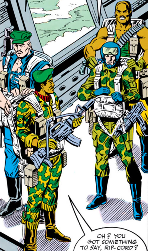 Ripcord - G.I. Joe - 1980s Marvel comics - With Stalker, Roadblock and Gung Ho