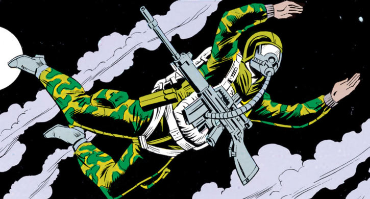 Ripcord - G.I. Joe - 1980s Marvel comics - Night parachuting high altitude