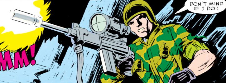 Ripcord - G.I. Joe - 1980s Marvel comics - Night sniping