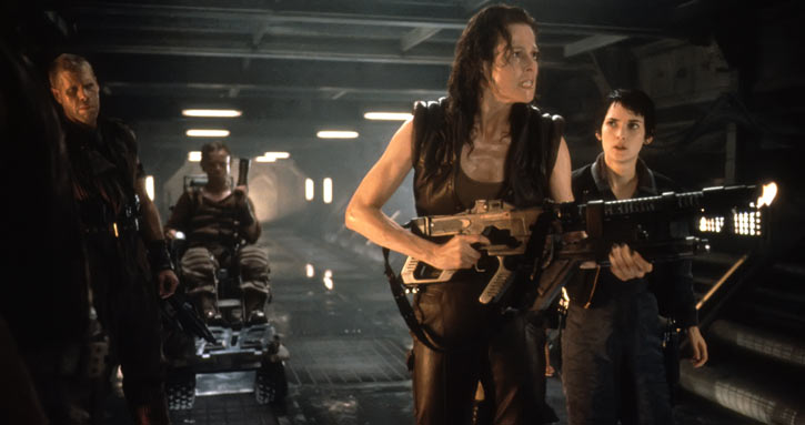 Alien Resurrection - Ron Perlman, Yaphet Kotto, Sigourney Weazver, Winona Ryder