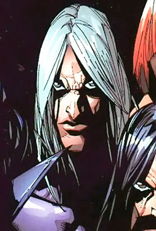 Riptide of the Marauders (X-Men enemy) (Marvel Comics) face closeup