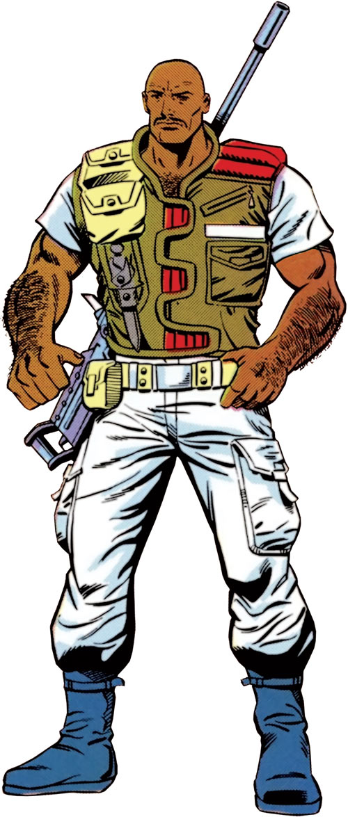 Roadblock (GI Joe) from the Marvel handbooks
