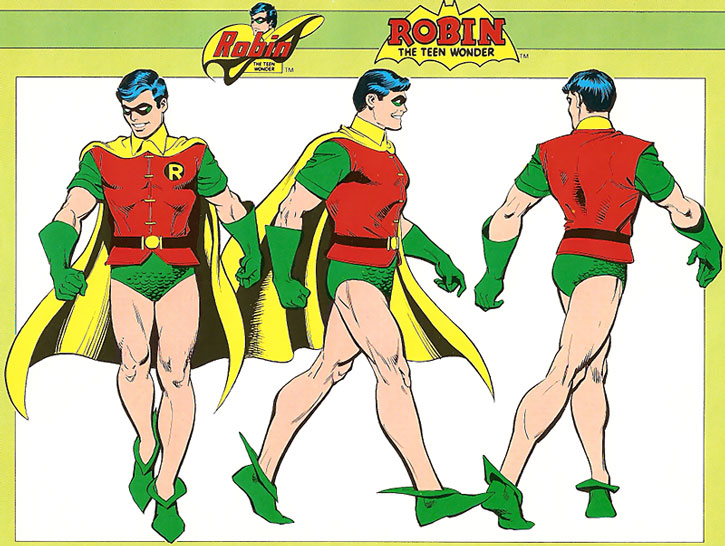 Robin character model coloring sheet