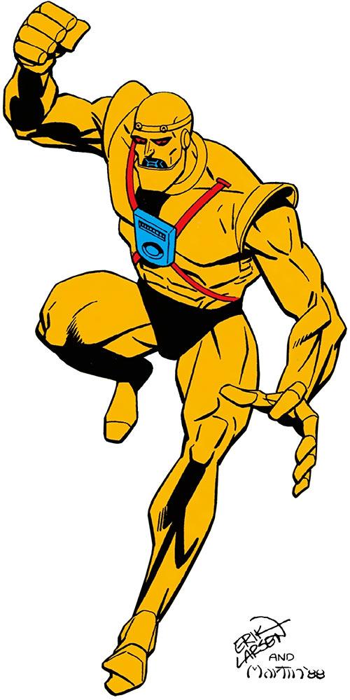 Robotman Cliff Steele (DC Comics) Erik Larsen art in the 1988 Who's Who Update