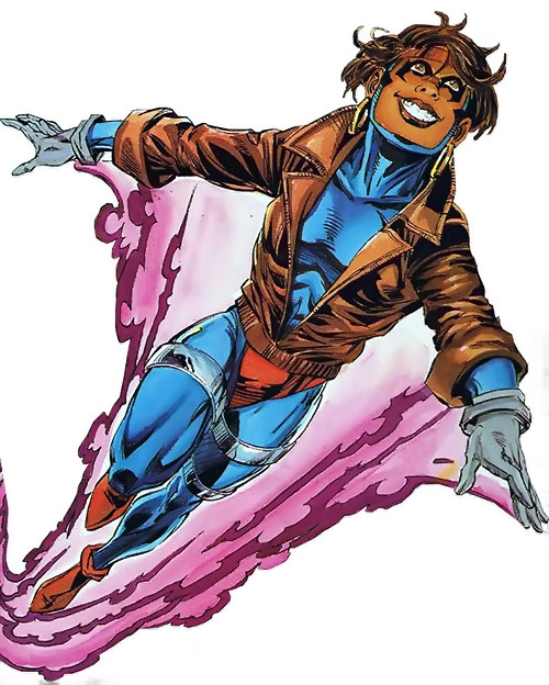 Rocket (Raquel Ervin) (Milestone Comics) flying