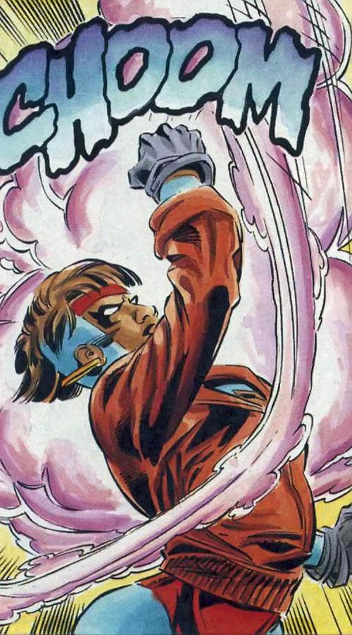 Rocket (Raquel Ervin) (Milestone Comics) punching