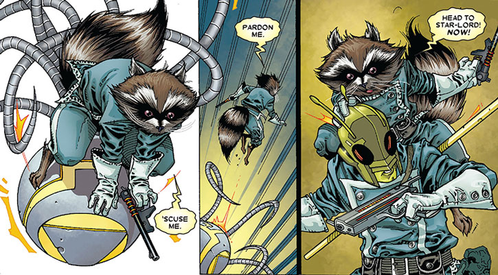 Rocket Raccoon and Bug