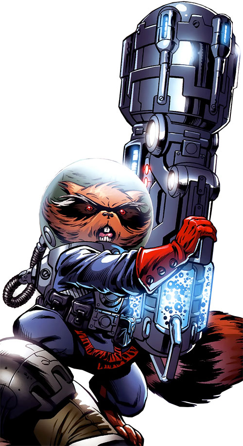 Rocket Raccoon (Marvel Comics) enormous cannon