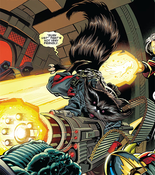 Rocket Raccoon (Marvel Comics) chaingun
