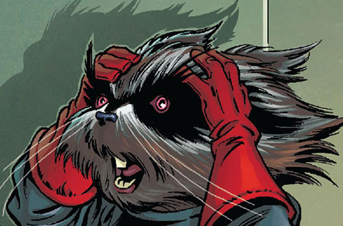 Rocket Raccoon (Marvel Comics) facepalm
