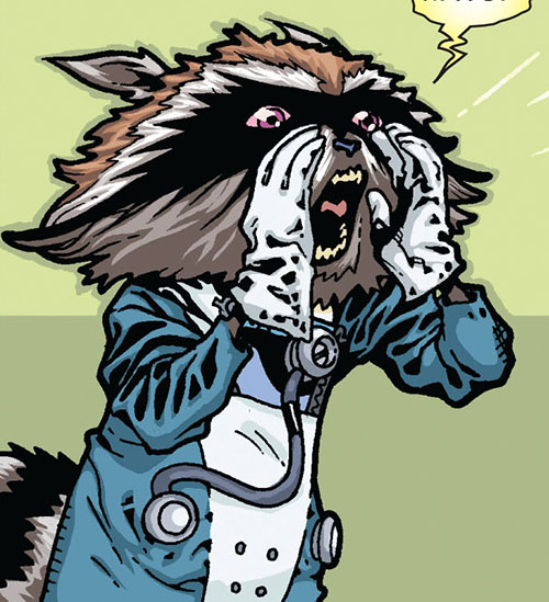 Rocket Raccoon (Marvel Comics) yelling