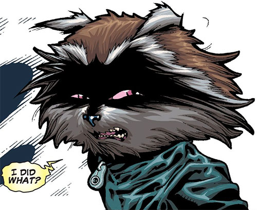 Rocket Raccoon (Marvel Comics) I did what face closeup