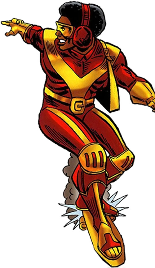 Rocket Racer (Spider-Man character) (Marvel Comics) with the 1970s costume