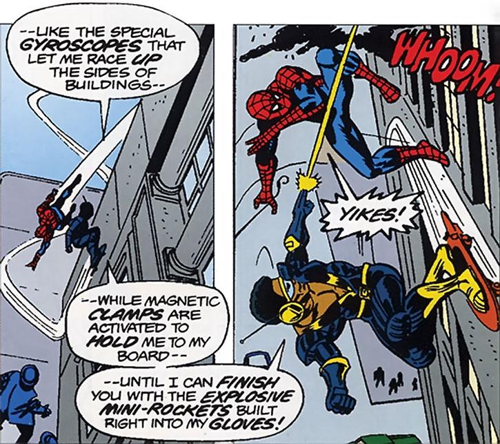 Rocket Racer (Robert Farrell) and Spider-Man