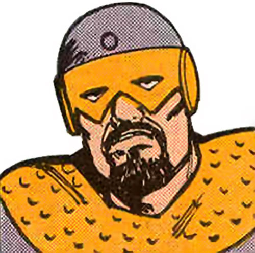 Rogarth of the Taurus Gang (Legion of Super-Heroes enemy) (DC Comics) closeup