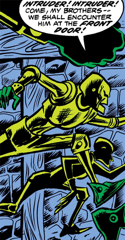 Rogue Latverian robots (Luke Cage enemies) (Marvel Comics)
