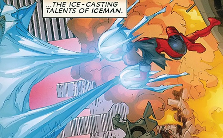 Rogue using Iceman's powers