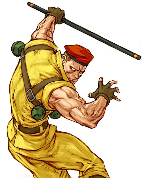 Rolento Sugerg (Street Fighters / Final Fight) ready for battle