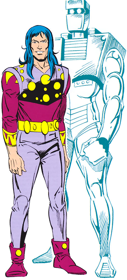 Rom the Space Knight (Marvel Comics) in both his forms