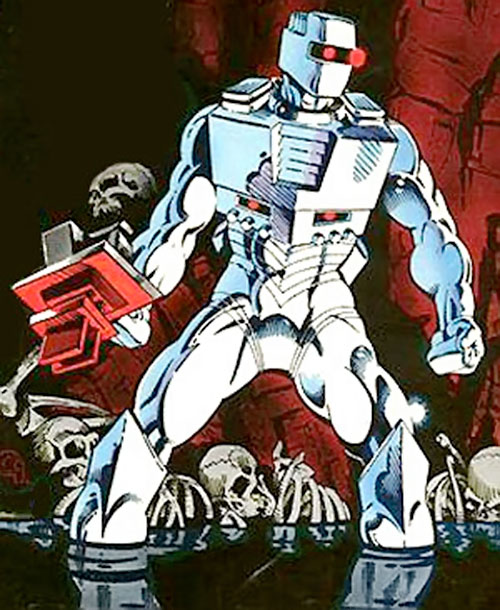 Rom the Space Knight (Marvel Comics) amidst bones and water