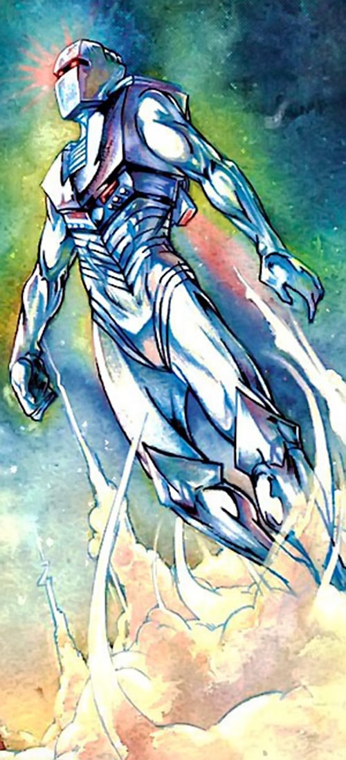 Rom the Space Knight (Marvel Comics) taking off
