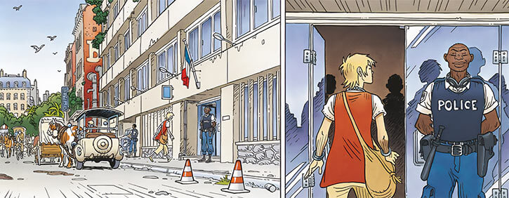 Romane Pennac - Mermaid Project Comic BD - Paris police precinct