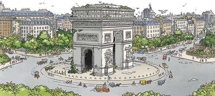 Romane Pennac - Mermaid Project Comic BD - Arc de Triomphe