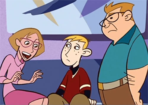Ron Stoppable (Kim Possible ally) (Disney) with his parents