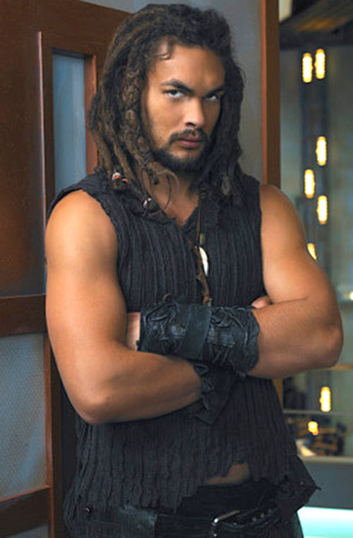 Ronon Dex (Jason Momoa in Stargate Atlantis) with arms crossed