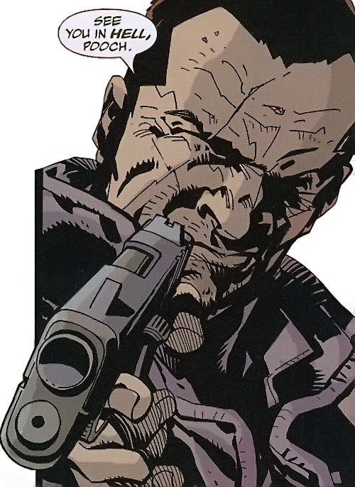 Roque of the Losers (DC Comics) aiming a .45