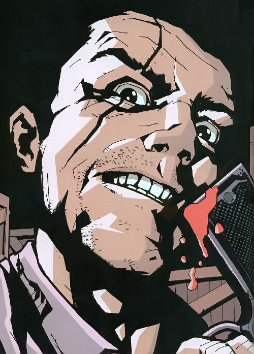 Roque of the Losers (DC Comics) with a bloodied pistol