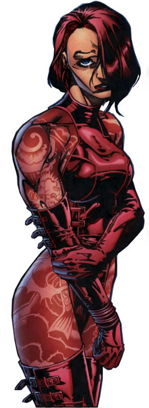 Rose Tattoo (Stormwatch comics) looking distraught