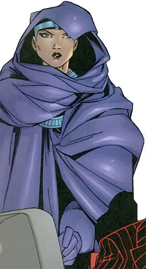 Rosetta Stone (Fantastic Four character) (Marvel Comics) in her purple cloak