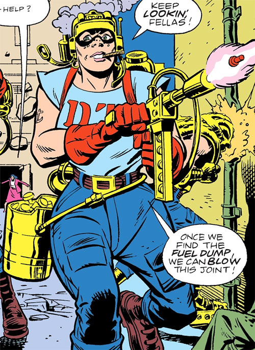 Rosie of the Demolition Team (DC Comics) in action