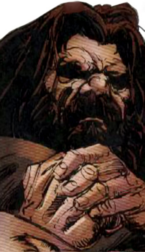 Roughouse (Wolverine enemy) (Marvel Comics) face closeup