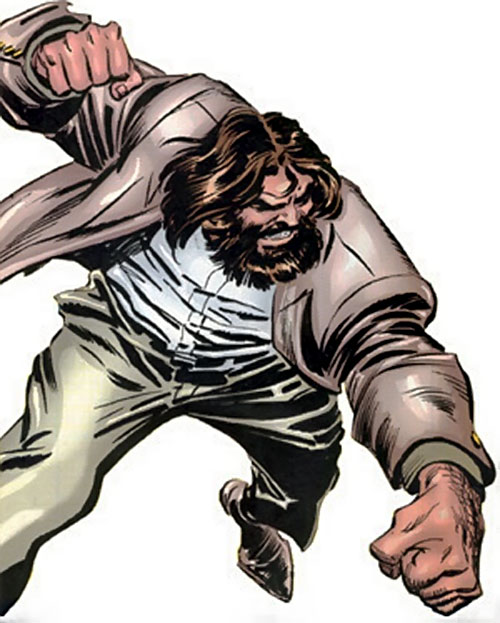 Roughouse (Wolverine enemy) (Marvel Comics) throwing a punch