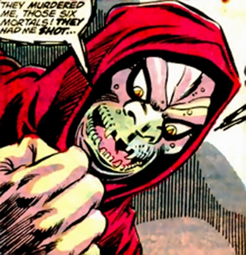 Roulette (Ghost Rider enemy) (Marvel Comics) speechifying