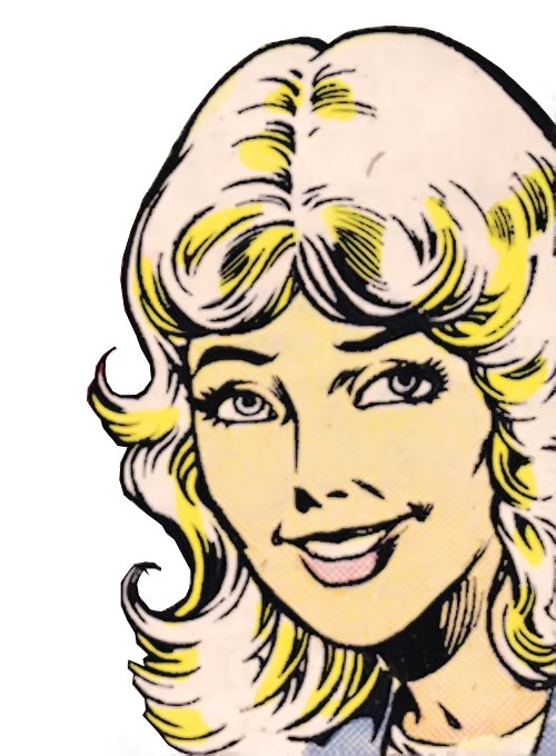 Roulette of the Hellions (New Mutants enemy) (Marvel Comics) face closeup