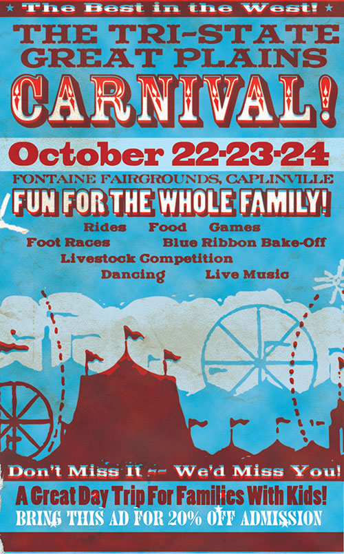 Midwestern carnival advertisement poster