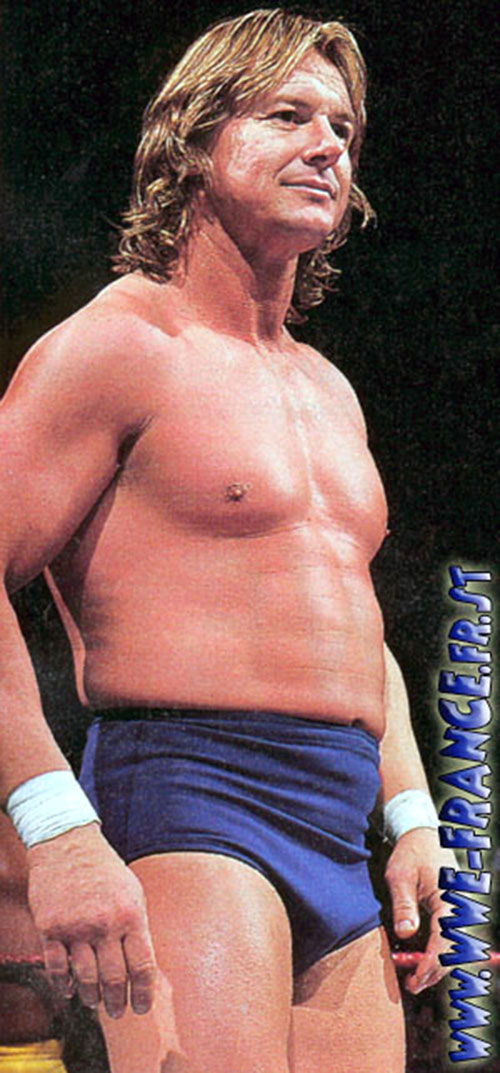 Rowdy Roddy Piper in blue briefs
