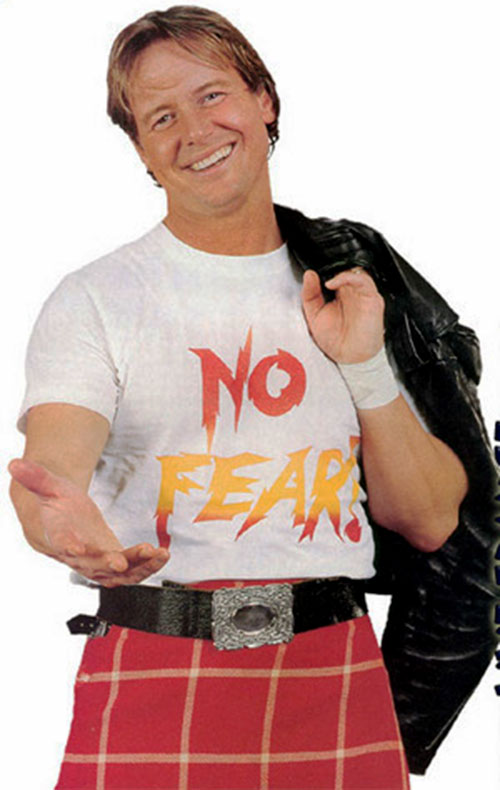 Rowdy Roddy Piper with a