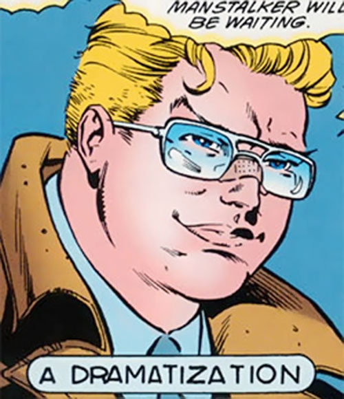 Roy Raymond Jr. the Manstalker (Robin character) (DC Comics) face closeup