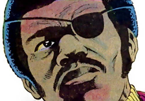 "Rufus ""Super-Midnight"" Carter (Master of Kung-Fu ally) (Marvel Comics) face closeup"