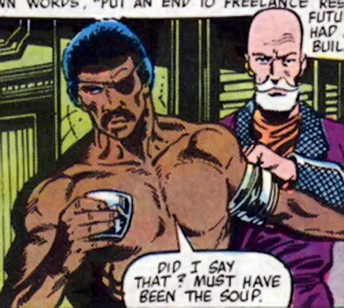 "Rufus ""Super-Midnight"" Carter (Master of Kung-Fu ally) (Marvel Comics) and Nayland-Smith"
