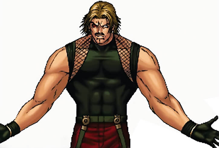 Rugal Bernstein with a black T-Shirt on white background