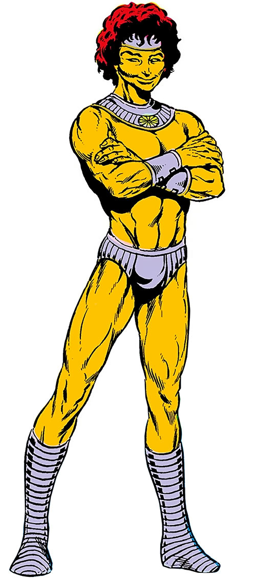 Ryand'r (DC Comics) on a white background