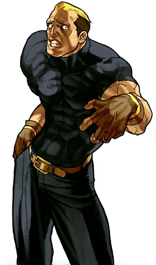 Ryuji Yamazaki (King of Fighters) with a strange expression