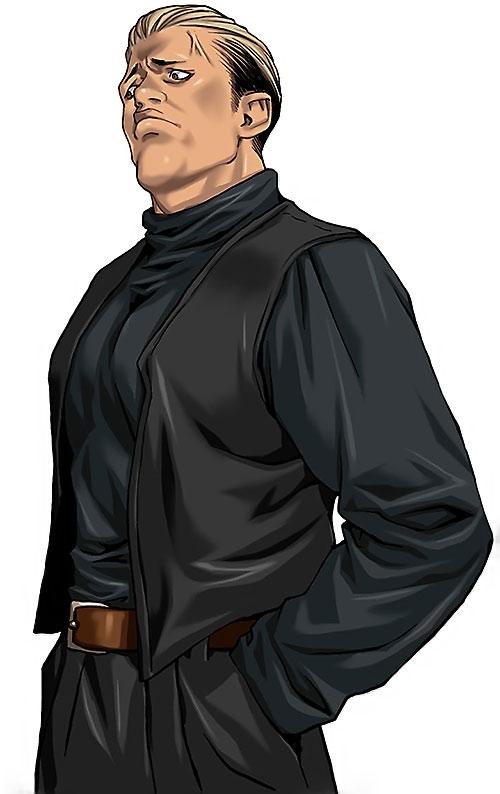 Ryuji Yamazaki (King of Fighters) with a sleeveless vest